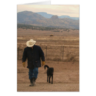 Sympathy Support & Comfort - Ranch Dog Lover Greeting Card