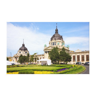 Szechenyi Thermal Baths in Budapest Canvas Print