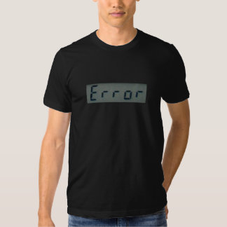 T-shirt électronique de message d'erreur