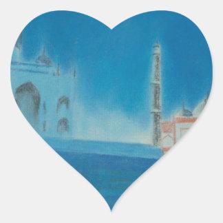 Taj. Heart Sticker