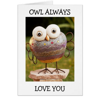 TALKING OWL=OWL ALWAYS LOVE YOU BIRTHDAY WISHES GREETING CARD