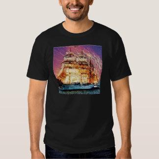 tallship and fireworks tshirt