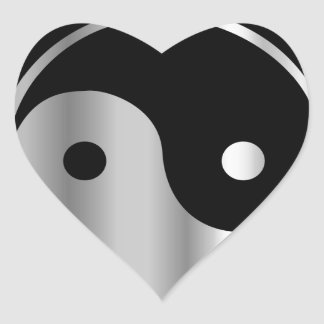 Taoism- Daoism- Ying and Yang religious icon Heart Sticker