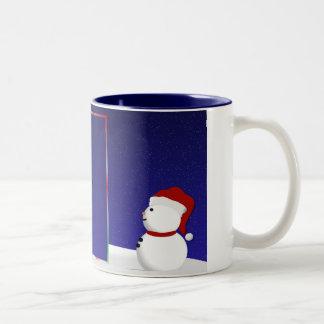 Tasse de photo de bonhomme de neige