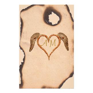 Tattoo Heart Stationery Paper