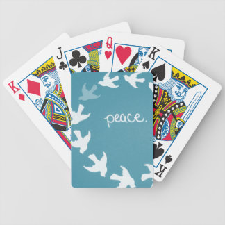 Teal Dove Playing Cards