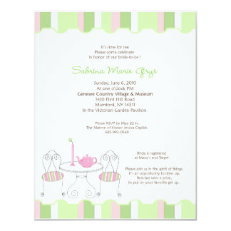 Teapot Bridal Invitation *FOR SABRINA ONLY*