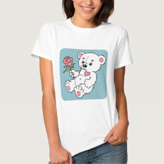 Teddy Bear With Rose T Shirts