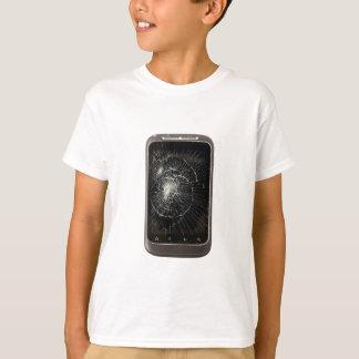 Téléphone portable cassé tee-shirt