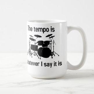 tempo is whatever I say Classic White Coffee Mug