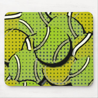 Tennis Balls Abstract Collage Mouse Pad