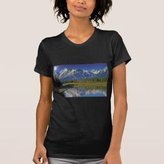 Teton Mountain Lake Template T Shirts
