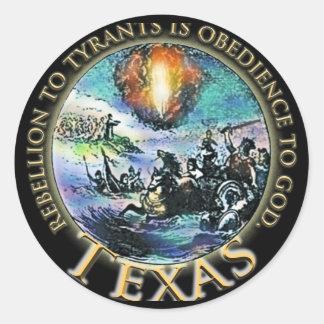 Texas Sticky Black Gold  Round Sticker