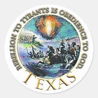 Texas Sticky Round Sticker