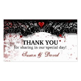 Thank You Halloween Blood Splatter Wedding Card Business Card