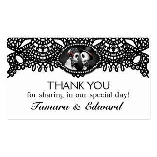 Thank You Wedding Card Halloween Skeletons Elegant Business Card