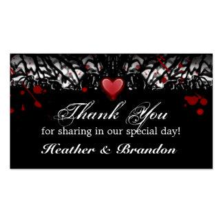 Thank You Wedding Cards Halloween Blood Splatter Business Card