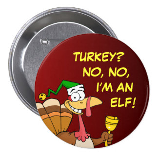Thanksgiving Turkey Funny Disguise for Christmas 3 Inch Round Button
