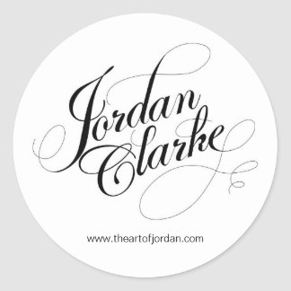 The Art of Jordan Round Sticker
