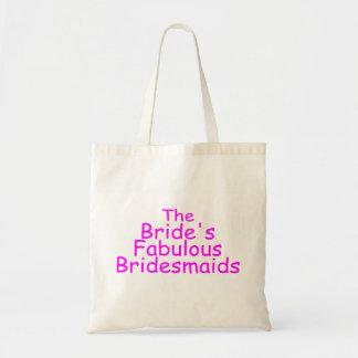 The Brides Fabulous Bridesmaids (Pink) Budget Tote Bag