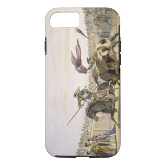 The Bull Following up the Charge, 1865 (colour lit iPhone 7 Case