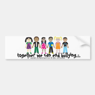 the campaign to end bullying sticker bumper sticker