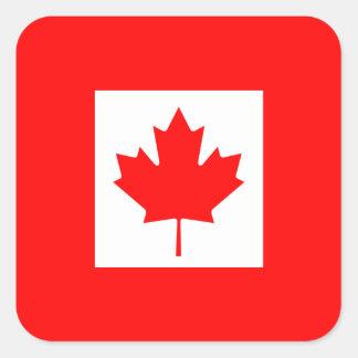 The Canadian Flag - Canada Souvenir Square Sticker