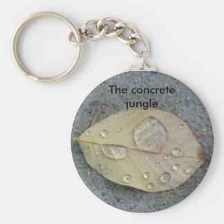 the concrete jungle basic round button keychain