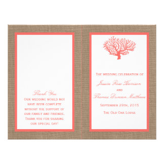 The Coral On Burlap Boho Beach Wedding Collection Flyers