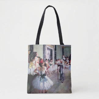The Dance Class by Edgar Degas, Vintage Ballet Art Tote Bag