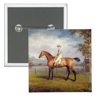 The Duke of Hamilton's Disguise with Jockey Up (oi 2 Inch Square Button