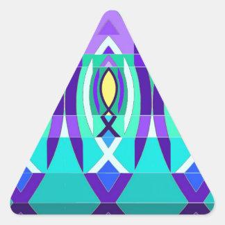 The Fish. Triangle Sticker