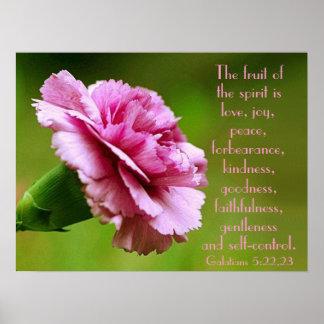 The fruit of the spirit bible verse reminder poster