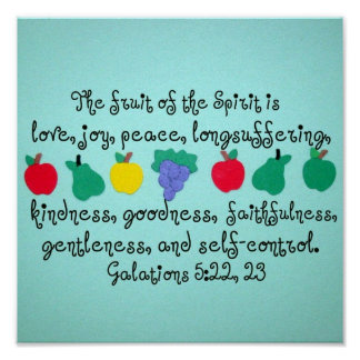 The fruit of the Spirit. Poster