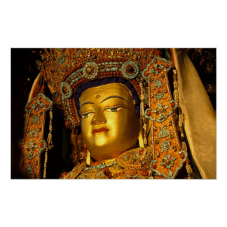 The gilded Jowo Buddha Statue, Jokhang Temple, Poster