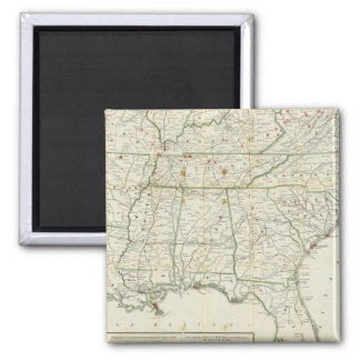 The Historical War Map Square Magnet