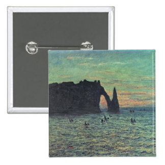 The Hollow Needle at Etretat, 1883 2 Inch Square Button