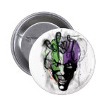 The Joker Neon Airbrush Portrait 2 Inch Round Button