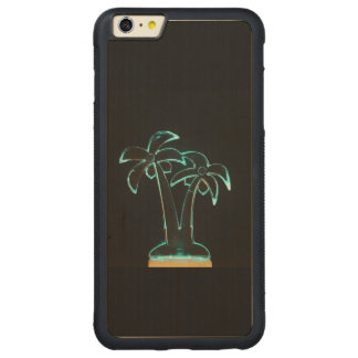 The Look of Neon Lit Up Tropical Palm Trees Carved® Maple iPhone 6 Plus Bumper Case