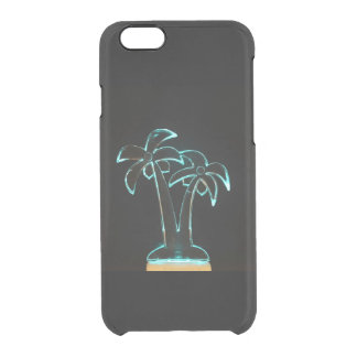 The Look of Neon Lit Up Tropical Palm Trees Clear iPhone 6/6S Case
