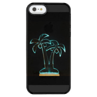 The Look of Neon Lit Up Tropical Palm Trees Clear iPhone SE/5/5s Case
