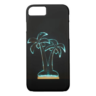 The Look of Neon Lit Up Tropical Palm Trees iPhone 7 Case