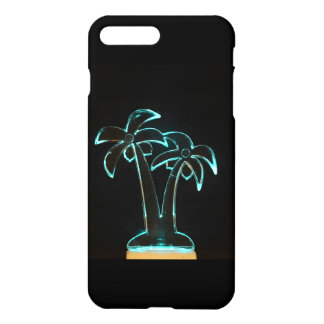 The Look of Neon Lit Up Tropical Palm Trees iPhone 7 Plus Case