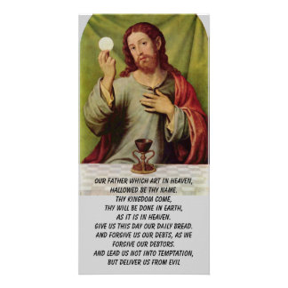 The Lord's Prayer photo card