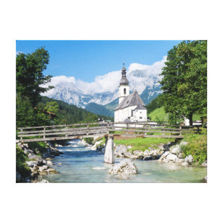 The parish church of Ramsau Gallery Wrapped Canvas