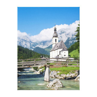 The parish church of Ramsau in Bavaria, Germany Gallery Wrapped Canvas
