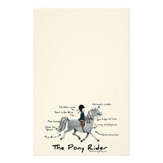 The Pony Rider Stationery Design