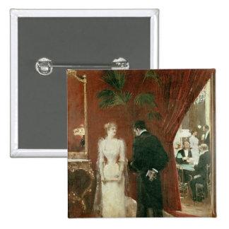 The Private Conversation, 1904 2 Inch Square Button
