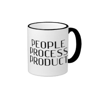 "The Profit - ""People Process Product"" Ringer Coffee Mug"
