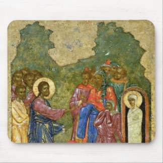 The Raising of Lazarus, Russian icon Mouse Pad